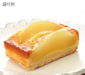 フレック)フリーカットケーキ 白桃のタルト 約380g【3月より価格変更】