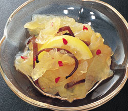 ヤマ食)レモン海月(くらげ)1kg(500g×2パック)【5月より価格改定】