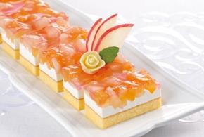 味の素)フリーカットケーキ アップル&ピーチ 520g【3月より価格変更】