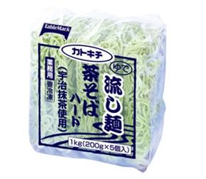 流し麺 茶そばハード(宇治抹茶使用)200gX5個