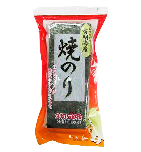 関口海苔店)有明海産焼のり 3切 50枚