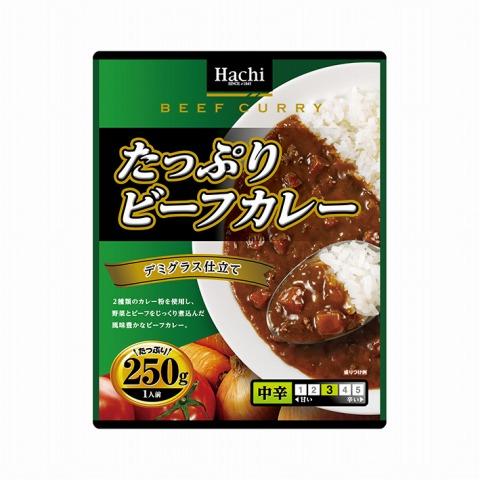 ハチ食品)たっぷりビーフカレー 中辛 250g