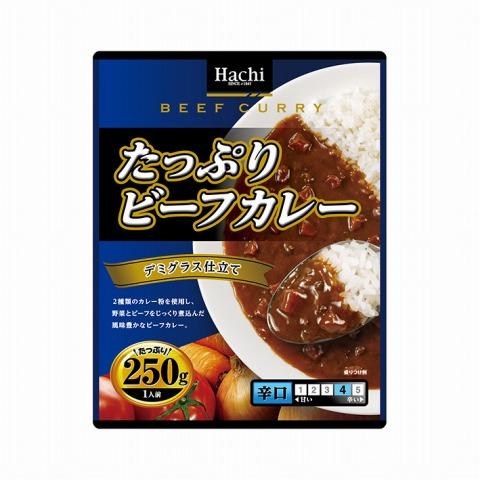 ハチ食品)たっぷりビーフカレー 辛口 250g