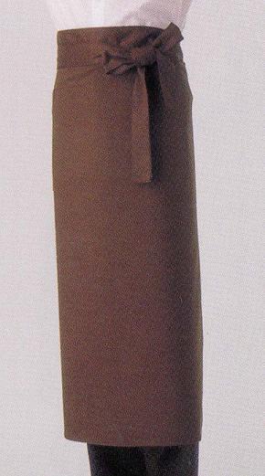 ロングエプロン ブラウンMC-113【12月より価格変更】