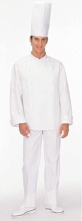 コックコート(男女兼用・長袖)kS6621-2L(白)【12月より価格変更】