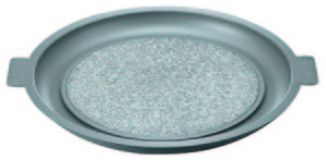 【販売終了】【取り寄せ品】石焼プレート 長水 遠赤 ノンスティック加工 アルミ枠付 32cm