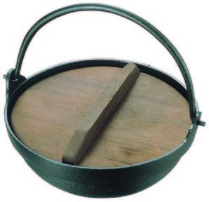 アルミ田舎鍋(蓋付)15cm