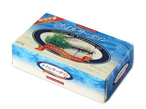 トマトコーポレーション)オイルサーディン箱入り(モロッコ産) 125g(固形量90g)【旧商品 650336 からの切り替え】